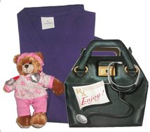 Toddler Scrubs Boxed gift Set with Bear