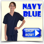 Navy Blue Toddler Scrubs