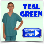 Teal Green Toddler Scrubs