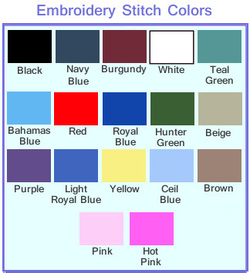 Embroidery Color Chart